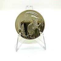 Xu Hình Con Chuột mạ Kim Loại Vàng được sản xuất tại Úc sở hữu nét chạm khắc sắc sảo tinh tế với đường kính 40 milimet Tặng kèm Túi Gấm nhung Long Phụng Cao Cấp - TMT Collection - MS269
