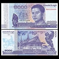 Tờ 1000 riels của Campuchia phiên bản mới