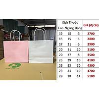 10 TÚI 20X21X10cm GIẤY KRAP NHẬT cao 20 ngang 21 hông 10 cm set 10 chiếc