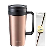 Ly giữ nhiệt Lock&Lock Coffee Filter Mug LHC4197 580ml - Hàng chính hãng, Có lưới lọc trà, Coffee bằng Inox, Chất liệu thép không gỉ, Giữ nóng hoặc giữ lạnh tốt Kèm ống hút Inox 304