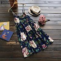 ZANZEA Women Sleeveless Vintage Floral Sundress Club Party Beach Dress