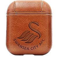 Bao Da Cover Dành Cho Apple Airpods 1 / 2 Premium  Khắc Hình Swansea City Afc