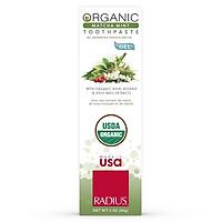 Kem Đánh Răng Hữu Cơ Vị Bạc Hà & Bột Trà Xanh Radius - Organic Matcha Mint Toothpaste, Dạng Gel, 85g