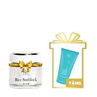 Rice SunBlock (Kem Chống Nắng Tinh Chất Gạo) 30g + Tặng Rice Body Makeup Mini 30g - T.H.Y