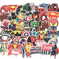 Sticker 50 miếng hình dán Siêu anh hùng SetA - hàng nhập khẩu