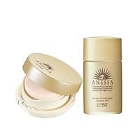 Bộ sản phẩm Anessa kem nền trang điểm tông sáng và Kem chống nắng dưỡng da dạng sữa bảo vệ hoàn hảo 20ml
