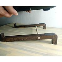 Gía đỡ laptop, chống nóng, bàn làm việc ngăn nắp, gỗ sang trọng, màu nâu.