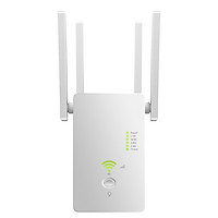 AC1200Mbps WiFi Range Extender/Repeater/Router 802.11n Wireless WiFi Repeater 2.4GHz/5.8GHz with Four Antennas White US