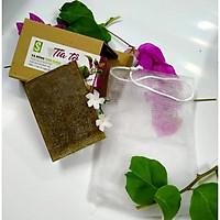 Bánh Xà bông Sinh Dược Tía tô 100 gram mùi hương nhu thơm nhẹ dễ chịu, kèm túi lưới tạo bọt