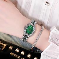 Đồng hồ thời trang nữ D1,dây kim loại, mặt đính đá - không kèm vòng tay