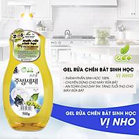 Nước Rửa Rau Củ - Nước Rửa Chén Bát - Nước Rửa Sinh Học Eco Green Hàn Quốc - Nho - Hàng Nhập Khẩu Hàn Quốc