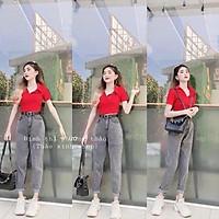 Quần baggy nữ cao cấp murad_fashion, quần baggy màu xám bó chân lưng cao phong cách HÀN QUỐC 2021 bgn0000