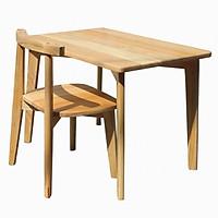Bộ bàn học sinh gỗ cao su tự nhiên Panda