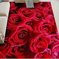 Thảm Bali Trải Sàn Cao Cấp 1m6x2m3 - Họa Tiết Hoa Hồng Đỏ