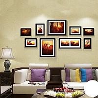 Bộ 9 khung ảnh Treo Tường Phòng khách KA903  Miễn phí phụ kiện.