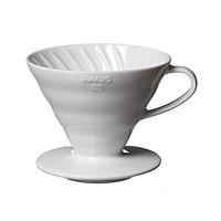 Phễu lọc cà phê Hario V60 sứ trắng | 1-2 cups (size 01)1-2 cups (size 01) và 3-4 cups (size 02)
