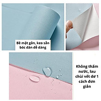 5 mét giấy dán tường một màu trơn bề mặt nhám sợi có keo sẵn khổ rộng 45cm, giấy decal dán tường phòng khách 1 màu