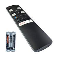 Remote Điều Khiển Giọng Nói Cho Smart TV, TV Thông Minh TCL Netflix Grade A+ (Kèm Pin AAA Maxell)