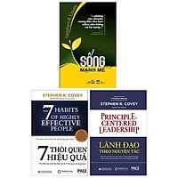 Combo 7 Thói Quen Hiệu Quả - Bìa Cứng + Lãnh Đạo Theo Nguyên Tắc + Sống Mạnh Mẽ - Bộ 3 Tập