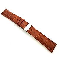 Dây da 22mm khóa bướm thép dành cho đồng hồ Galaxy Watch 46mm, Gear S3 và các loại đồng hồ sử dụng dây 22mm