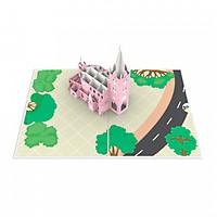Thiệp 3D pop up Nhà thờ Tân Định