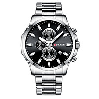 CURREN 8348 Quartz Man Wristwatch Watches with Stainless Steel Strap Band Watch for Male Date Calendar Indicator Three
