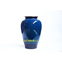 Bình hoa Bát tràng men hỏa biến xanh dáng vò cao S13