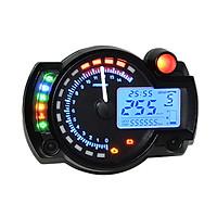 Đồng Hồ Kĩ Thuật Số Đa Năng Đo Tốc Độ Xe Máy Kèm Đèn Nền LCD