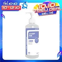 Dung dịch rửa tay sát khuẩn ALFASEPT PURE 500ml - Nước rửa tay khô tăng cường dưỡng ẩm, nước rửa tay nhanh tinh chất lô hội