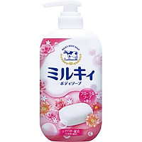 Sữa tắm hương hoa hồng  milk body soap cow 550ml -4901525006316