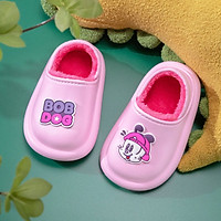 Giày Trẻ Em Bobdog 6031 Dép Sục Lót Lông Cho Bé Trai Bé Gái Siêu Mềm Ấm Chống Trơn Trượt ( Có Lớp Lót Sau Cố Định Gót Chân )