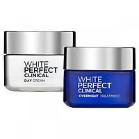 Bộ Kem Dưỡng Trắng Và Giảm Thâm Nám Chuyên Sâu Ngày và Đêm L'Oreal White Perfect Clinical 50ml