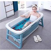Size 1.18m - Bồn tắm gấp gọn chất liệu silicon dành cho người lớn không kèm nắp ( MÀU XANH)