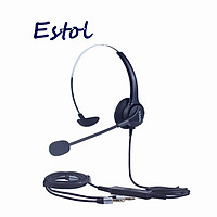 HD voice Hion For600 máy tính dual 3.5 mét cắm, tai nghe chuyên nghiệp cho trung tâm cuộc gọi, trung tâm đào tạo tai nghe, PC Headphone