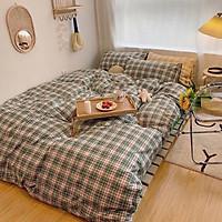 Bộ chăn ga gối 4 món Cotton Poly hàng đẹp Mã 02 (gồm 1 vỏ chăn có khóa lồng ruột, 1 ga giường, 2 vỏ gối)
