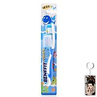 Bàn chải đánh răng trẻ em Benefit Junior siêu mềm tặng kèm móc khóa