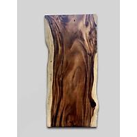 Mặt bàn dài gỗ Me Tây nguyên tấm