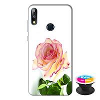 Ốp lưng điện thoại Asus Zenfone Max Pro M2 hình Hoa Hồng tặng kèm giá đỡ điện thoại iCase xinh xắn - Hàng chính hãng