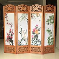Bình phong khung gỗ tranh XUÂN-HẠ-THU-ĐÔNG 180x200 AT011