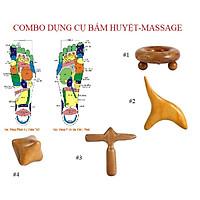 Combo bấm huyệt-massage bằng gỗ thơm