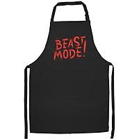 Tạp Dề Làm Bếp In họa tiết Beast mode màu đỏ