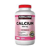 Thực phẩm bảo vệ sức khỏe Calcium 600mg + D3 - hộp 500 Viên - KIRKLAND
