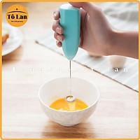 Máy đánh trứng ️ ️ Máy tạo bọt cà phê cầm tay mini cao cấp Tiện dụng hoạt động êm ái dễ sử dụng 2 in 1