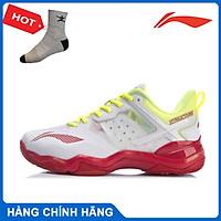 Giày cầu lông Lining AYZR002-1 chính hãng dành cho nam, đế kếp chống lật cổ chân - Tặng tất thể thao Bendu
