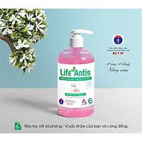 Nước rửa tay diệt khuẩn, khử mùi LIFE ANTIS hương hoa hồng chai 500ml