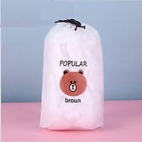 Set 100 màng bọc thực phẩm túi gấu  Màng bọc thực phẩm PE có chun bọc đồ ăn co giãn tái sử dụng GD435-MangBocTP