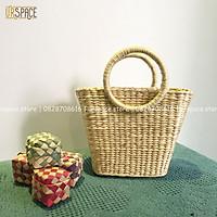 Túi cỏi đi biển túi lục bình phong cách vintage hàng thủ công/ Straw Handbag Handmade Vintage Style For Girl