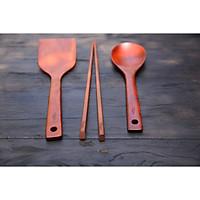 Bộ dụng cụ bếp bằng gỗ xuất Nhật, Hàn ( đũa nấu, sạn, vá gỗ)