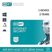 Phần mềm diệt Virus Eset Internet Security 1 User 2 Years - Bản quyền 1 Máy/2 Năm - Hàng Chính Hãng