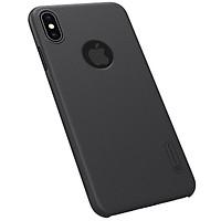 Ốp lưng chống sốc cho iPhone XS Max hiệu Nillkin mặt lưng sần (Đính kèm 1 giá đỡ) - Hàng chính hãng